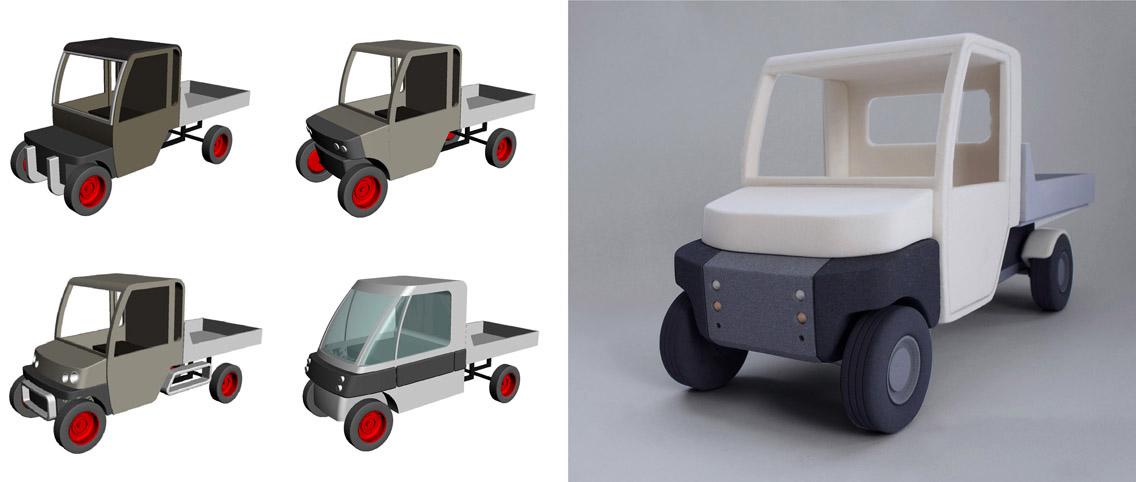 Electro Car   redesign front elektrisch busje